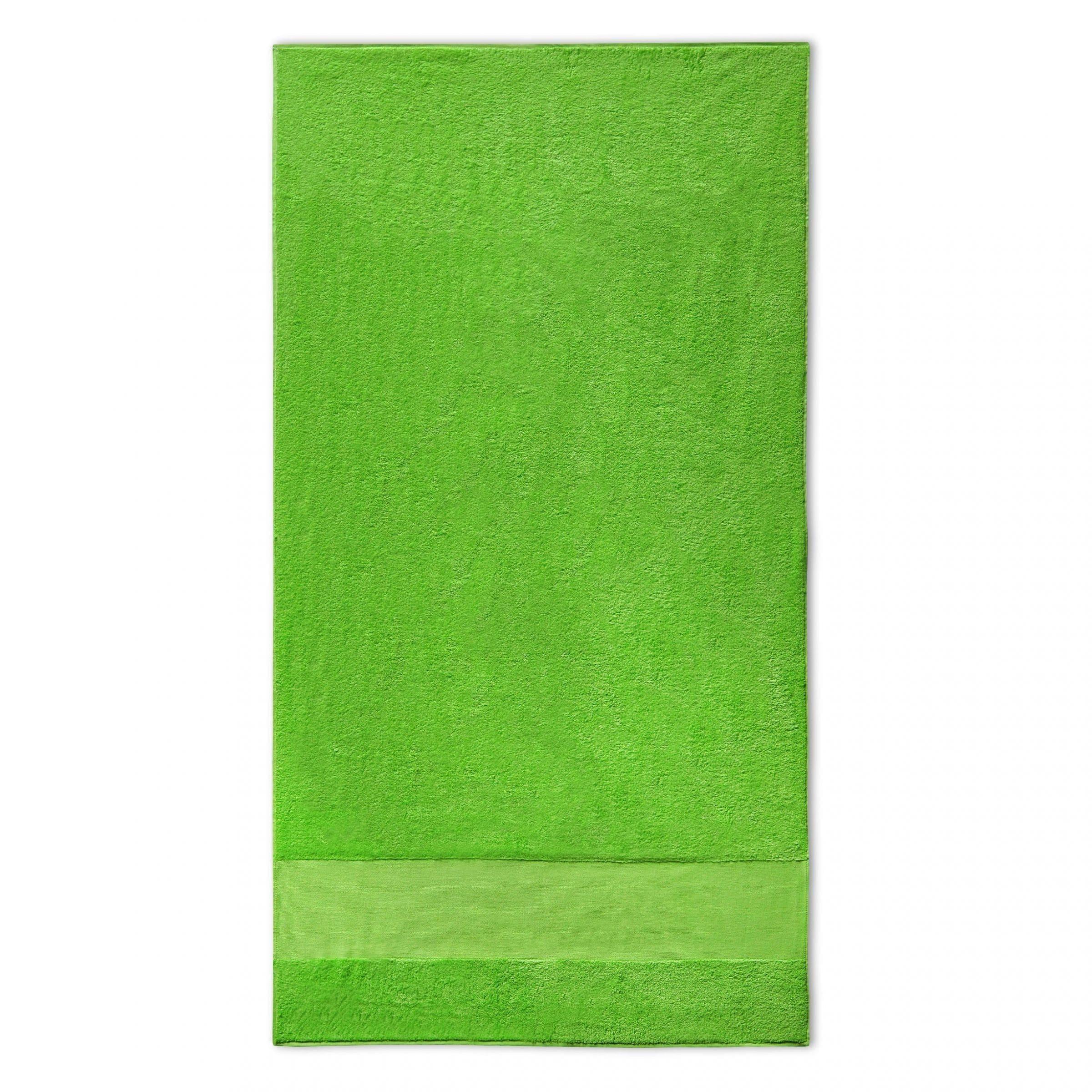 Handdoek met brede band  13cm lime